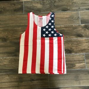 carbon american flag tank top size small